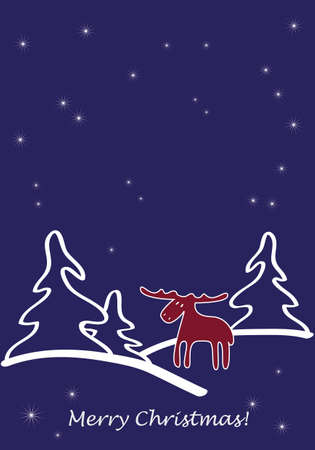 Christmas greeting card Stock Vector - 10865697