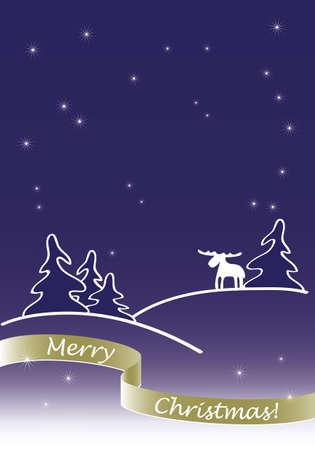 Christmas greeting card Stock Vector - 10865701
