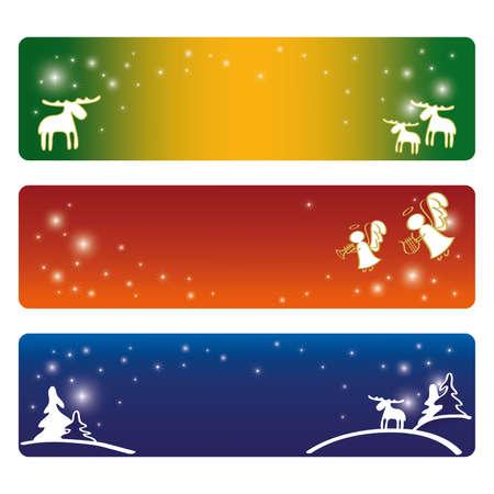 Three Christmas banners Stock Vector - 10936948