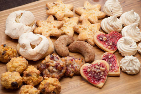 Cookies with nuts and cinnamon in different shape
