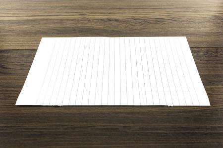 memorise: white paper on wood Stock Photo