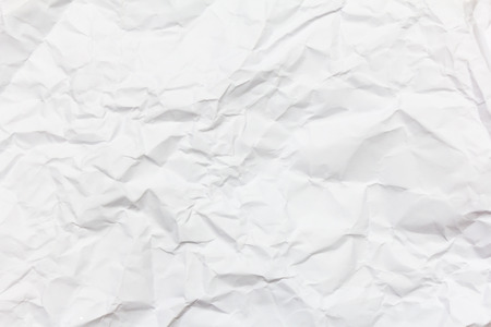 white crumpled paper background texture 写真素材