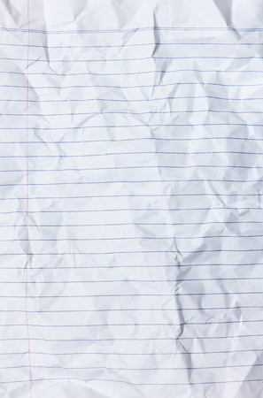 lined: lined white crumped paper texture Stock Photo