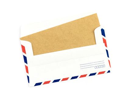 air mail: Closeup of air mail envelope
