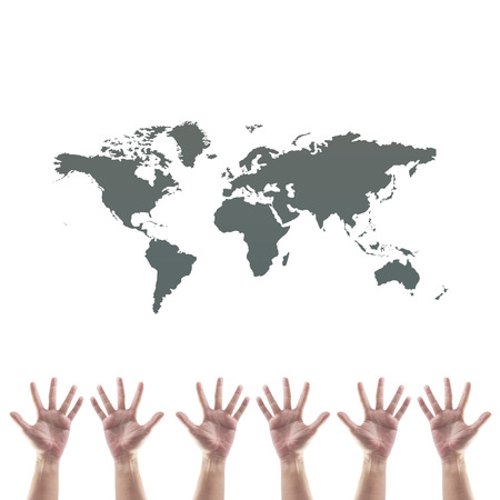 World Map Shape Floating On Hand Stock Photo Picture And Royalty - World map shape