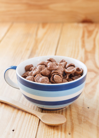 cereal bowl: Breakfast Chocolate Cornflakes Cereal Bowl