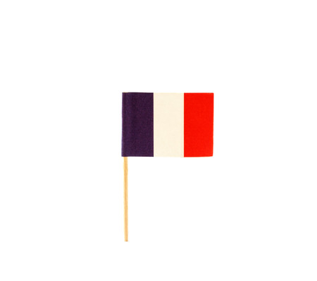 small paper: Tooth pick with a small paper flag of France Stock Photo