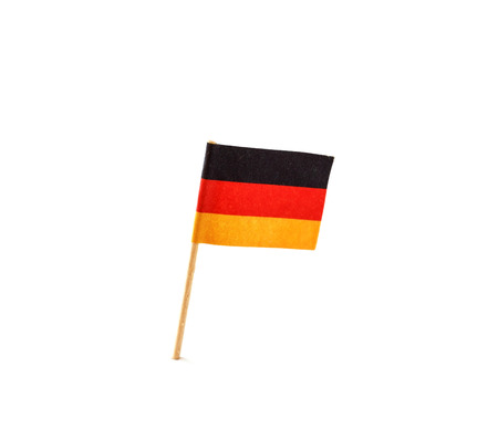 toothpick: German flag in toothpick against white background