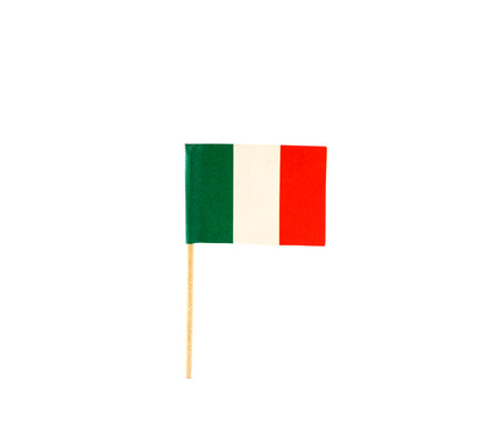 small paper: Tooth pick with a small paper flag of Italy