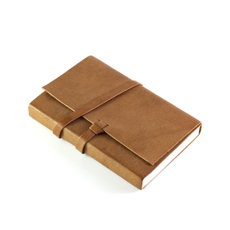 brown leather: brown Leather notebooks isolated on white background