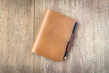 book cover: Brown Leather notebooks isolated on white background