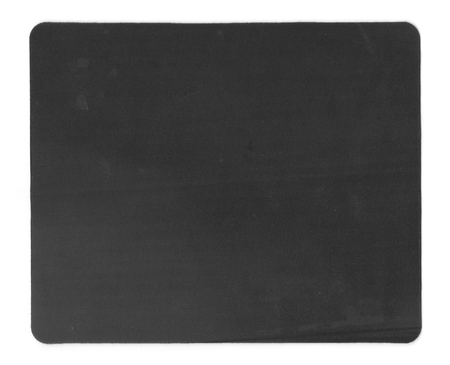 mousepad: Black mouse-pad isolated on white background