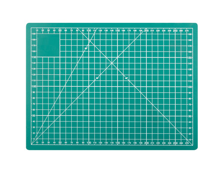 Cutting mats isolated on white background with clipping path