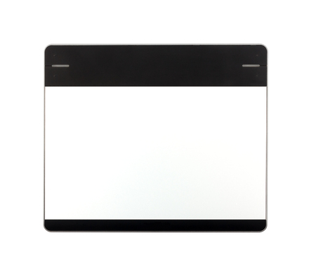 graphic tablet: Top view of Graphic tablet isolated on white background