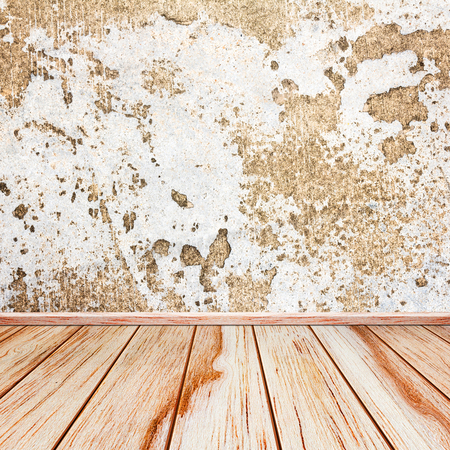 grunge room: Old grunge room with concrete wall, urban background Stock Photo