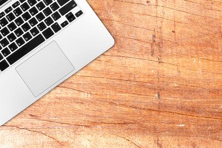 topdown: Laptop on office desk copy space