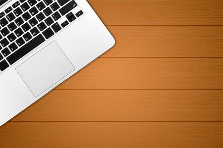 office space: Laptop on office desk copy space