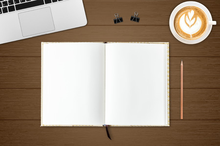 moles: Blank open notebook, Business template mock up for adding your