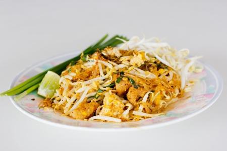 Pad Thai or Patthai, Thai noodle style photo