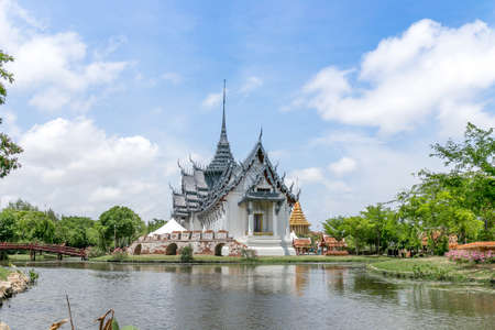 thialand: historic site and blue sky of thialand