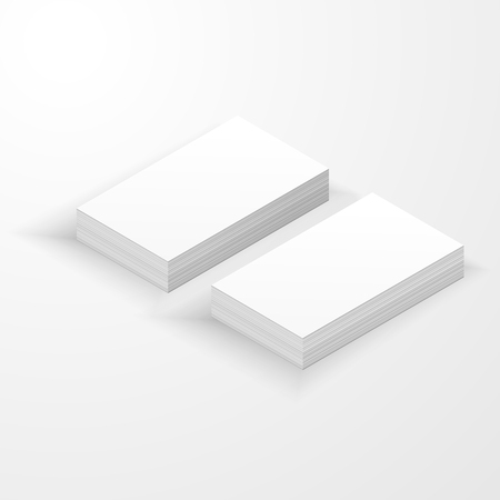 Blank business card mockup template created by vector.