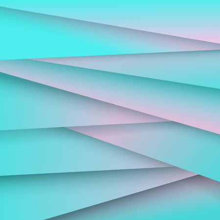 Abstract pattern background blue and pink color with shadow. Vector Illustration.