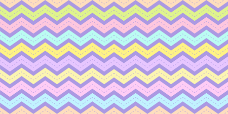Chevron stripe pattern seamless in pastel color. Zig zag rainbow texture background for kid fabric print, wallpaper, wrapping paper, textile, baby background, banner and card design. Illusztráció