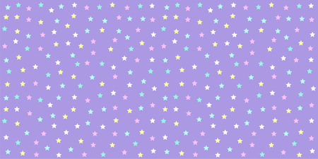 Pastel Unicorn Pattern Seamless Star Background In Purple Tone