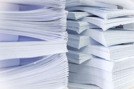 stack of papers: Stack of white papers Stock Photo