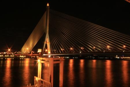 rama: Rama VIII Bridge Bangkok Thailand Stock Photo