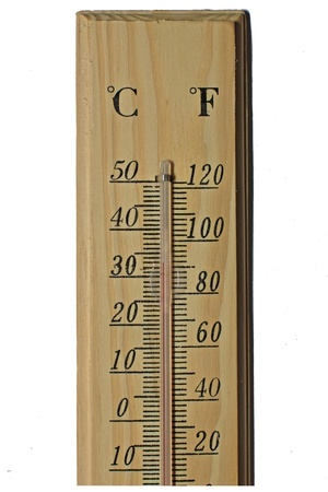 Thermometer isolated on white background. photo