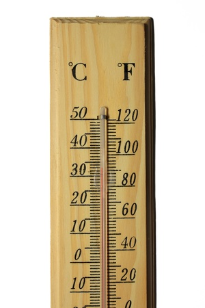 Isolated  thermometer on white background. photo