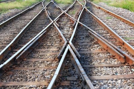 Railway in the park, Bangsue railway, Thailand  photo