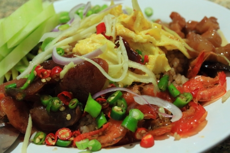 Fried rice with shrimp paste, Thai food  photo