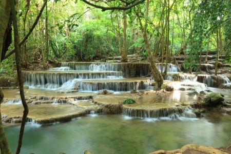 Paradise Waterfall in Kanchanaburi, Thailand. photo