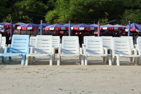 White Chairs at the Beach  photo