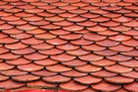 roof shingles: Seamless Red Clay Roof Tiles