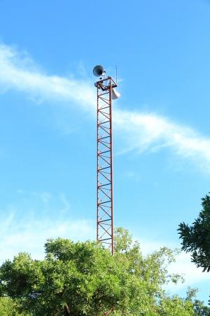 soundsystem: Speaker on High Tower and Blue Sky
