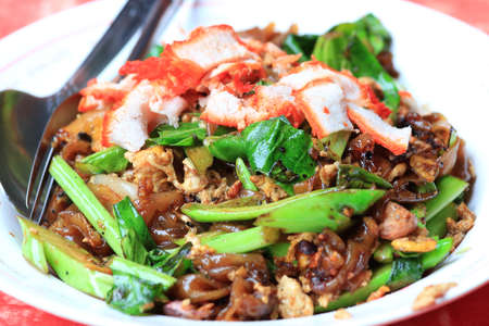Thai Dish - Fried Noodle with Meat  photo
