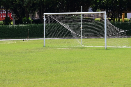 camping pitch: Football Goals  Stock Photo
