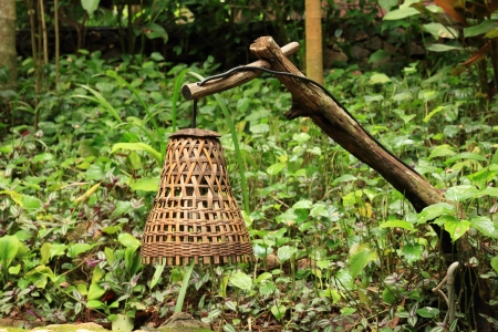 Thai Style Decorative Bamboo Lamp  photo