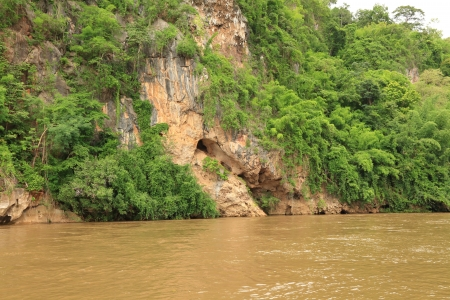 Rock Canyon Beside Kwai Noi River,Kanchanaburi Thailand  photo
