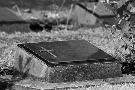 Black and White Style Graveyard  Standard-Bild