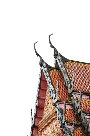 apex: Gable Apex on Temple Roof, Thailand  Stock Photo