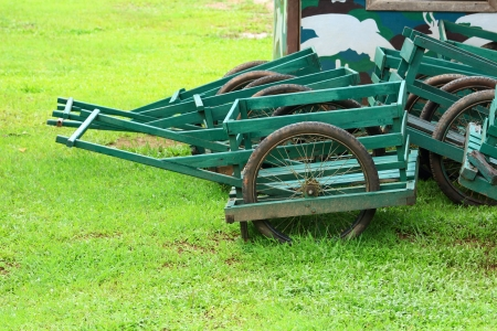 Wooden Cart in Green  photo