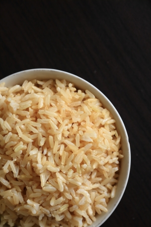 Brown Rice in the Bowl  photo