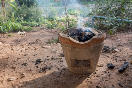 firebox: Charcoal Stove of Thai Style