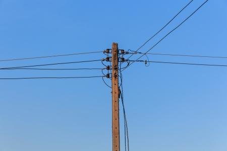 Energie und Technologie, Elektro Beitrag mit Power Line Kabel Standard-Bild - 25030699