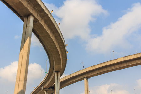 Industrial Ring Road Bridge in Thailand  Banco de Imagens