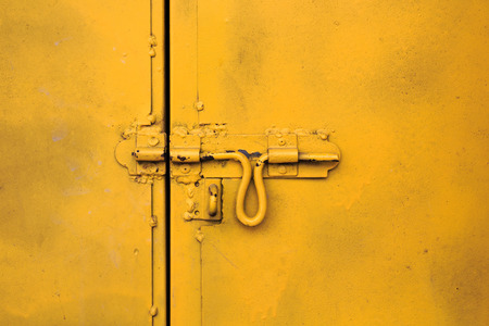 Yellow Latch the Door  photo